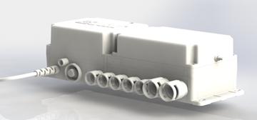کنترل باکس دو محور مناسب برای جک های خطی تخت های بیمارستانی